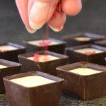 Making handmade chocolates